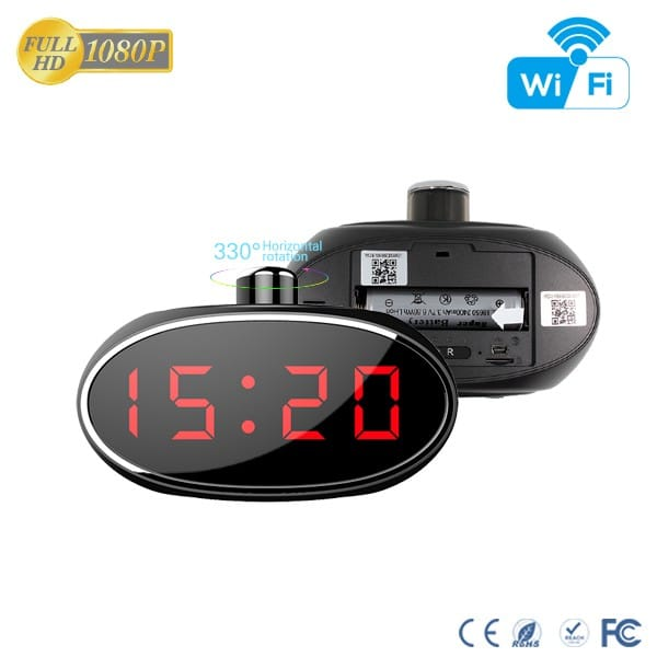 Clock nanny Camera With Rotatable Lens