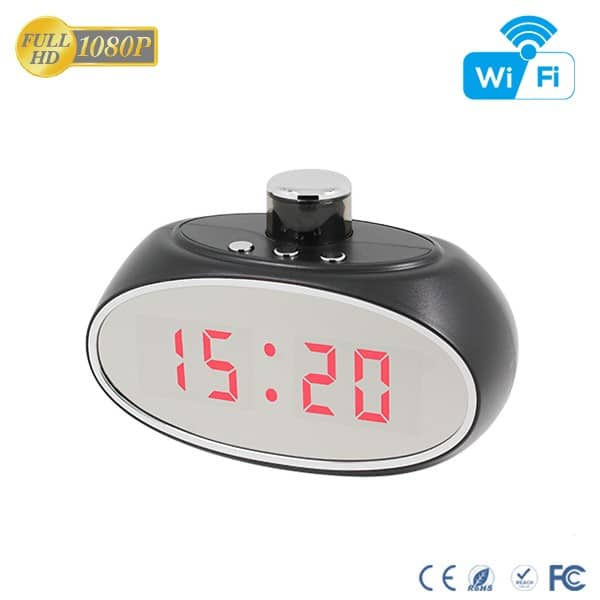 Clock spy Camera With Rotatable Lens