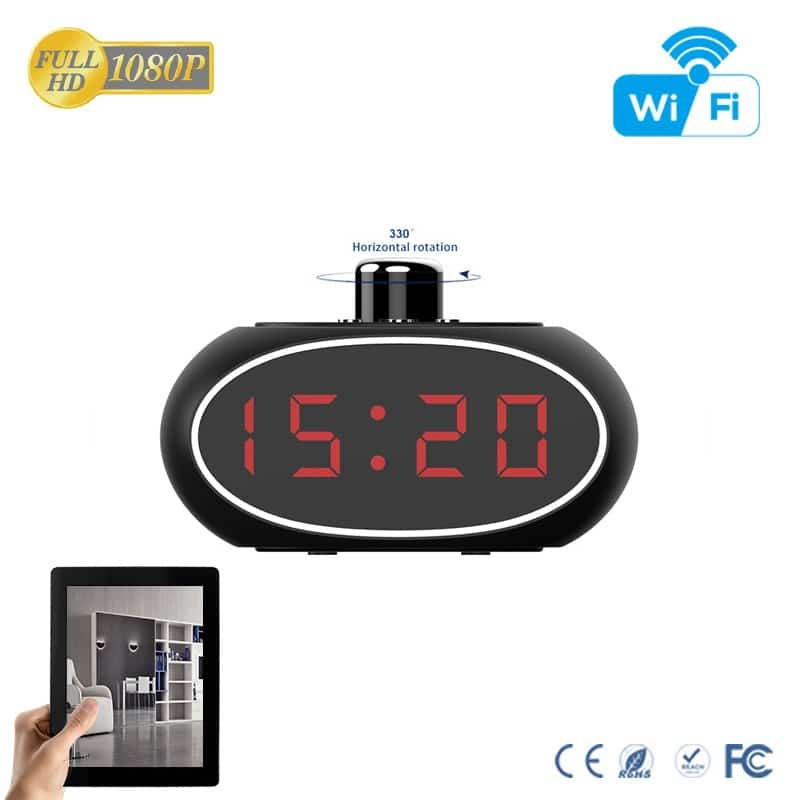 Clock Camera With Rotatable Lens
