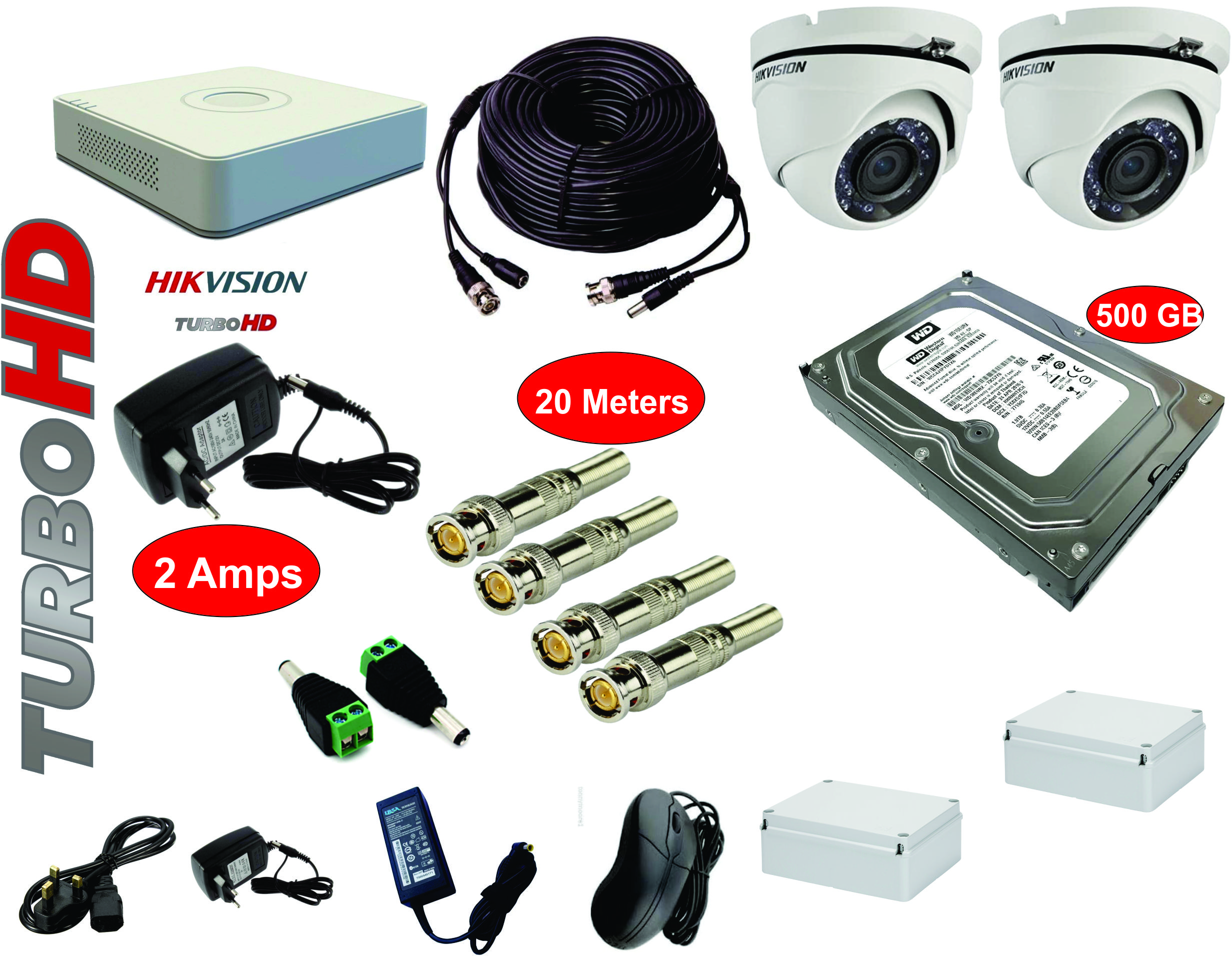 Complete CCTV Camera Installation Kit